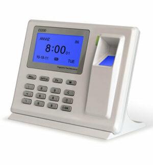 D200 Personalliggare Tidredovisning med fingerscanner
